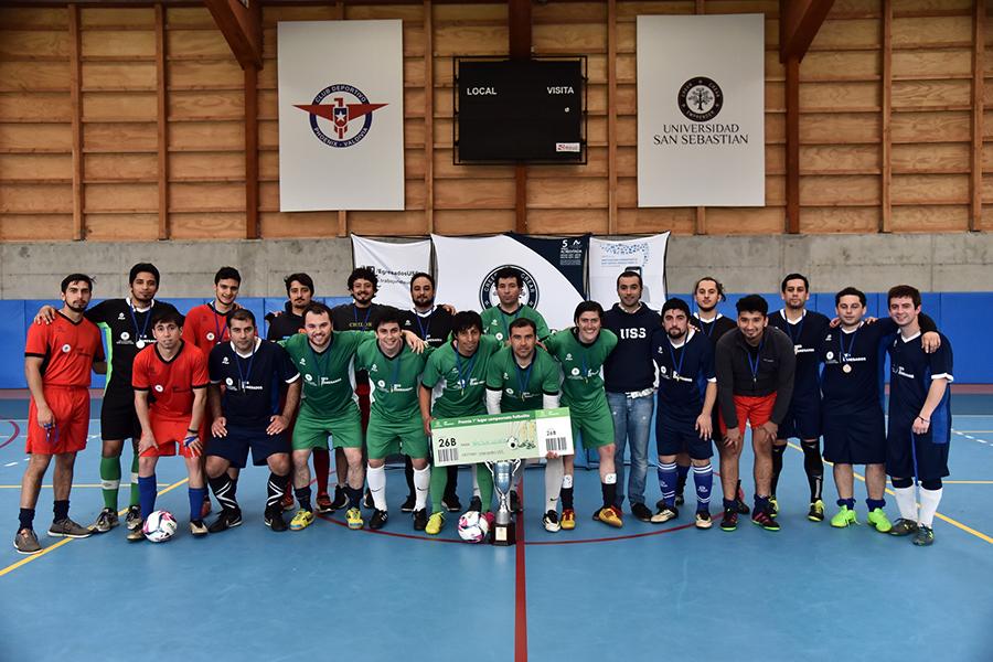 Vecchia Scuola 7FC es el campeón del Campeonato de Futbolito de la Red de Egresados USS Valdivia.