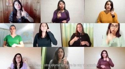 Coro USS estrenó canción sobre abuso a menores con apoyo de lengua de señas