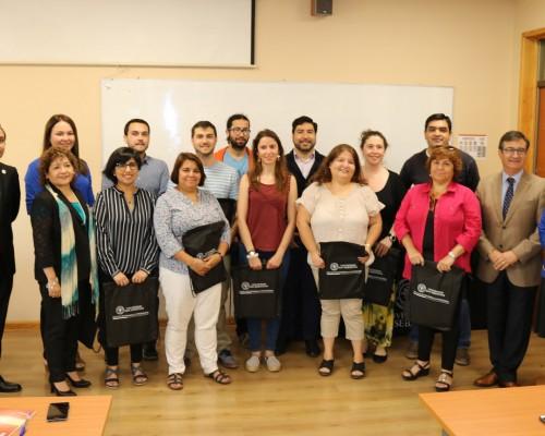 Profesionales del Servicio de Salud Ñuble que formaron parte del curso.