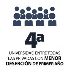 4ta universidad con menor deserción