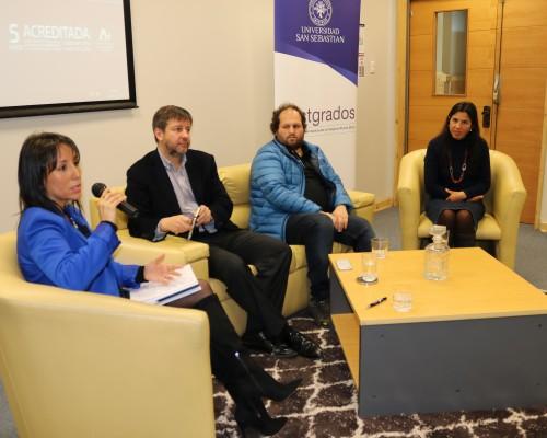 Panel de conversación de los expositores, presentes en la Biobío Week China.