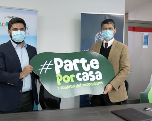 Campaña para prevenir contagio de Covid-19 en casa llega a comuna de Talcahuano