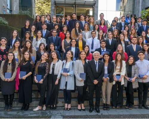 La ceremonia de Becas de Excelencia Académica se realizó en el Campus Las Tres Pascualas.
