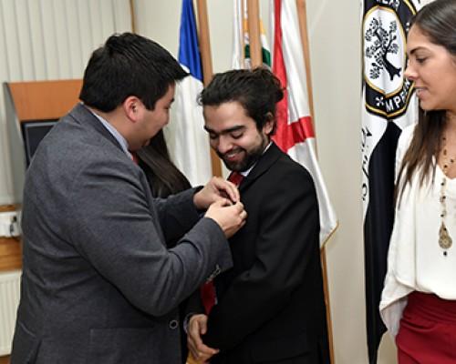 Centro de Estudiantes de la USS Valdivia tuvieron ceremonia de cambio de mando.