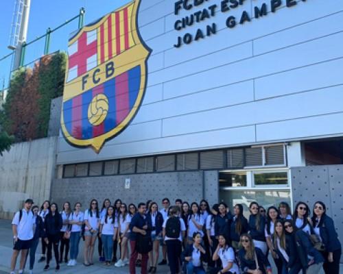 Estudiantes USS participaron en una pasantía sobre nutrición deportiva en Barcelona