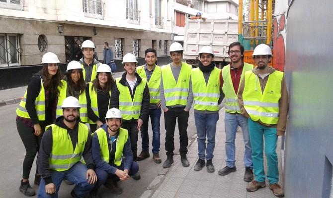 Estudiantes de Ingenieria Civil visitaron obras del GAM