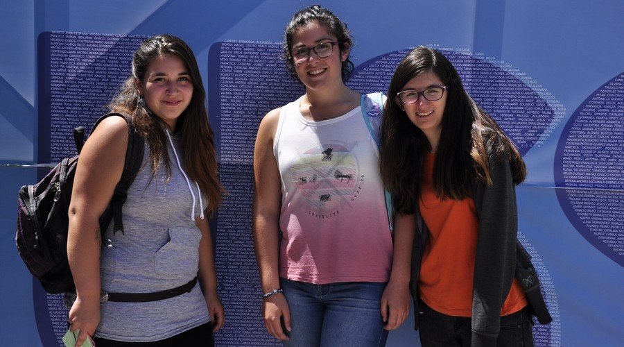 Fernanda Galleguillos, Valentina Vergara y Catalina Ibarra