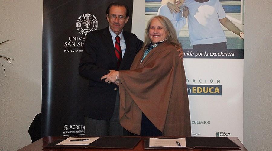 USS firmó convenio colaborativo con Fundación Boston Educa