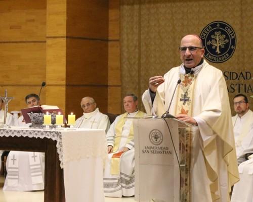 USS Concepción conmemoró los cinco años de su Oratorio con una misa oficiada por monseñor Fernando Chomali.