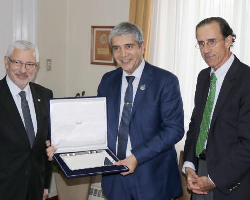 El rector USS sostuvo reuniones con académicos, estudiantes y directivos en la sede Concepción.