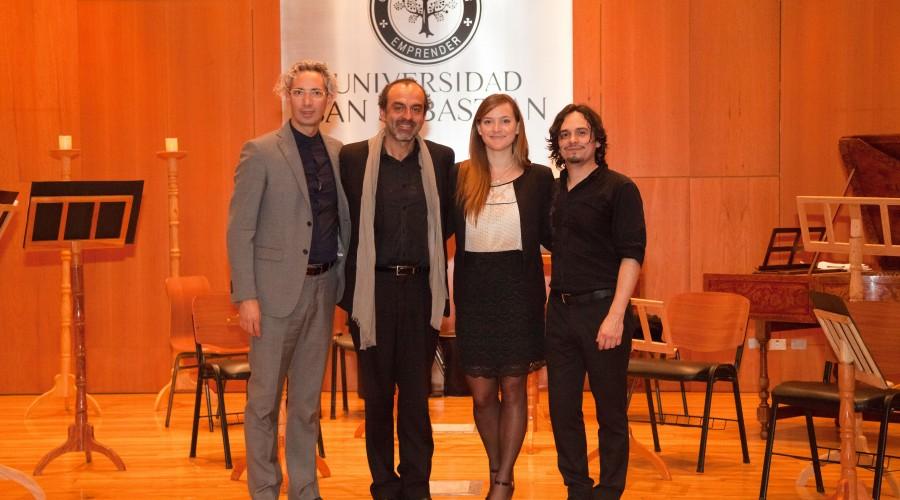 Sebastián Errázuriz, Marcelo Vidal, Donatella Gelsomino, Raúl Orellana.