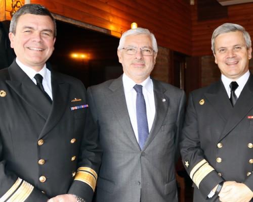 Autoridades de la USS Concepción se reunieron con plana mayor de la Armada.