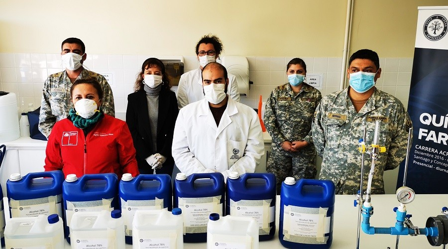 USS dona 100 litros de solución desinfectante para la Fuerza de Tarea de Los Lagos