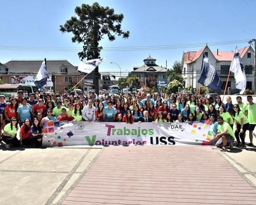 120 estudiantes de la USS Valdivia iniciaron los Trabajos de Verano en la comuna de Río Bueno.