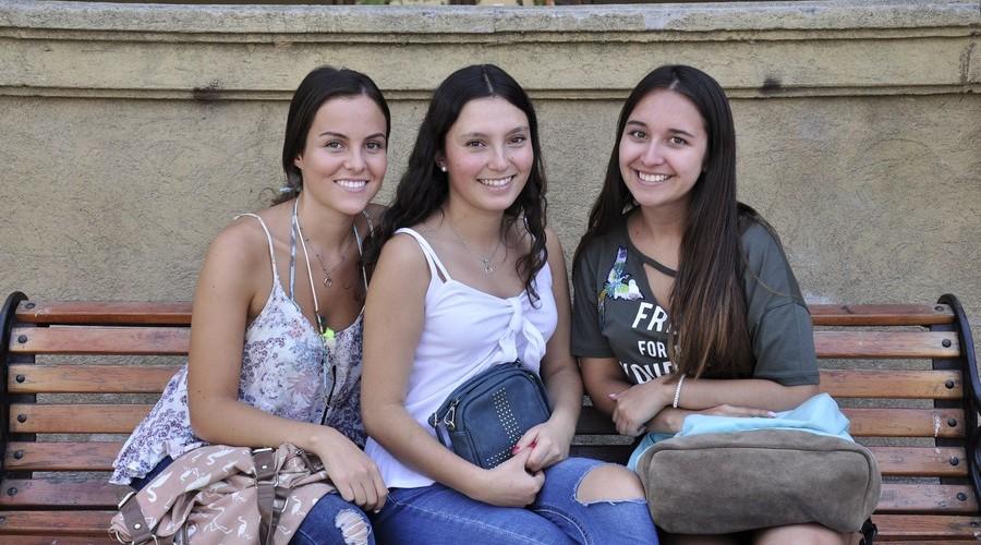 Valentina San Martín, Patricia Ramírez y Camila Peñailillo.