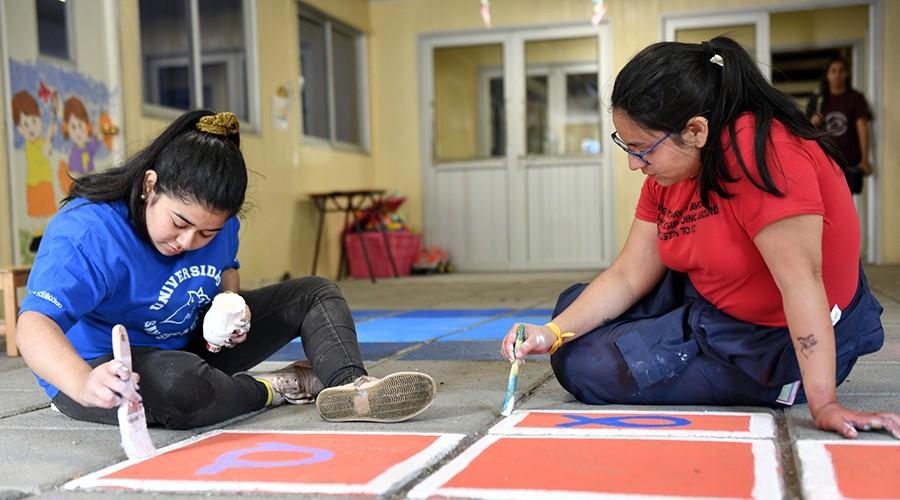 Estudiantes USS Valdivia participaron de voluntariado en Neltume