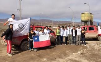 Grupo de voluntarios de la sede de Santiago