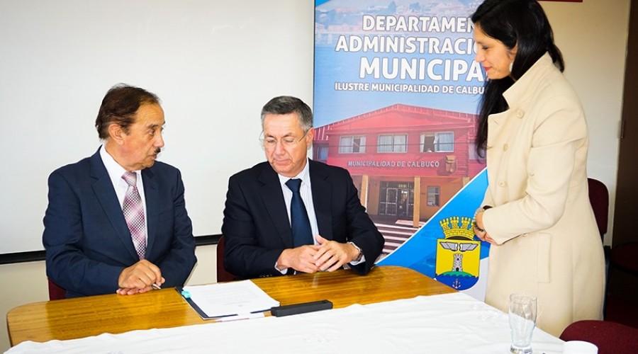 USS y Municipalidad de Calbuco firmaron convenio de colaboración