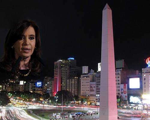 cristina fernandez obelisco Argentina imagen principal