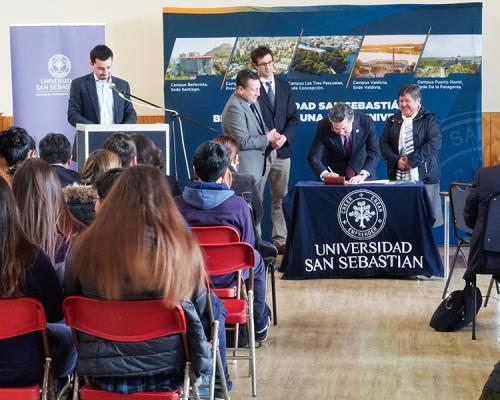 Universidad San Sebastián concreta importante alianza con colegios de Chiloé
