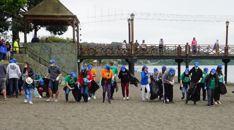 USS organiza limpieza de playas en cuatro puntos del Lago Llanquihue