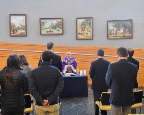 Tradicional misa de bienvenida se realizó en USS De la Patagonia
