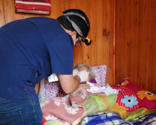 USS desarrolló programa de atención a pacientes postrados de Calbuco