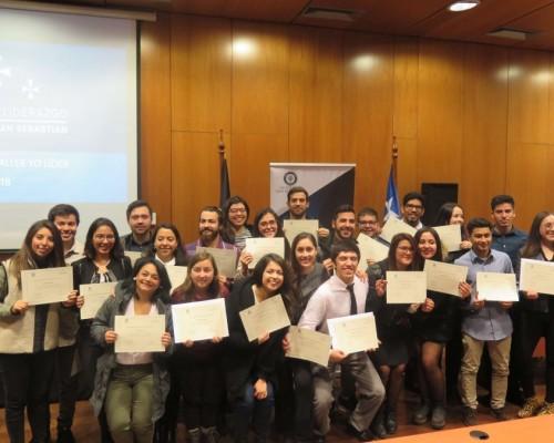 Estudiantes participantes de los diversos talleres impartidos durante el semestre.