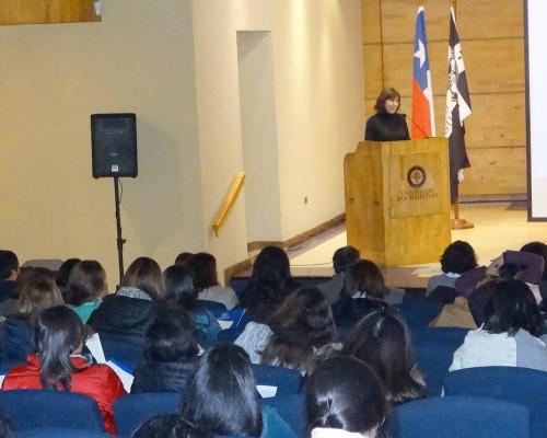 Presentación de la psicóloga y ex consultora de Unicef María Soledad Larraín.