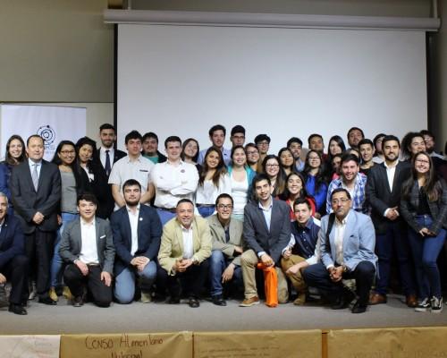Estudiantes y académicos participantes de la actividad de nacimiento de la Red.