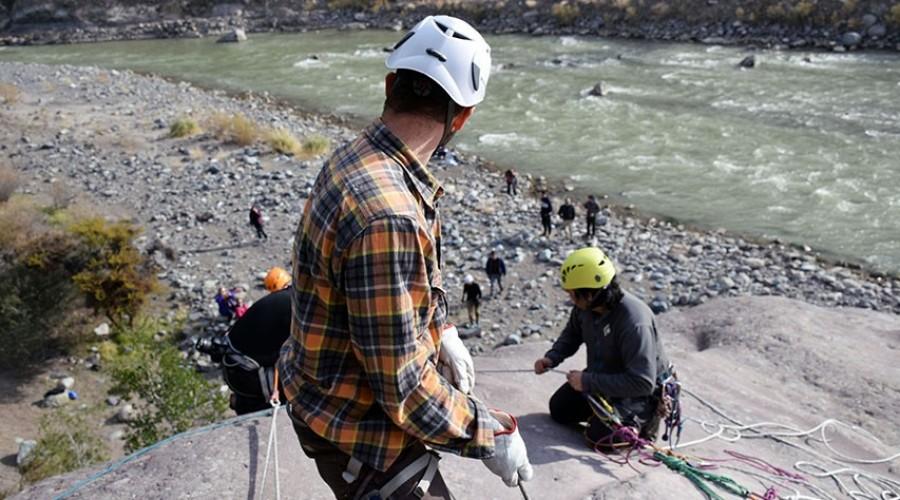 equipo rescate de montaña