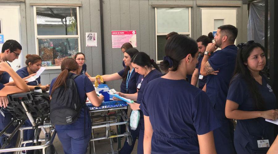 Enfermería USS realiza masiva vacunación a pacientes postrados en Cesfam de Quinta Normal