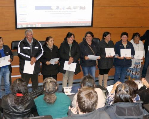 Beneficiarios del proyecto de VcM que benefició a emprendedores de Tubul (Arauco).