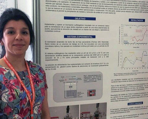 Daniella González Sánchez presentó su trabajo en categoría posters.