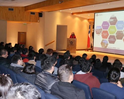 Paola Burdiles, directora de Plan Común de Ingeniería, expuso sobre los proyectos de VcM de la FIT.