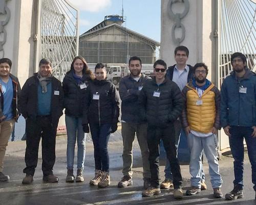 Alumnos visitaron ASMAR(T) junto a académicos sebastianos.