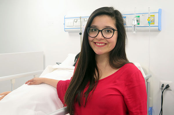 Bárbara Vallejos estudiante de tercer año Obstetricia