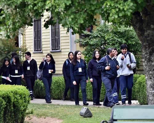 Estudiantes del Liceo Rector Abdón Andrade Coloma recorrieron distintos museos de Valdivia.