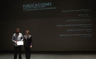 Mario Marchant, director Revista Materia Arquitectura, premiada como la mejor publicación por el jurado de publicaciones de la XIX Bienal de Arquitectura y Urbanismo 2015