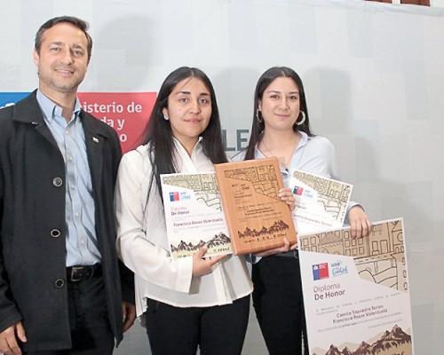 Seremi de Vivienda y Urbanismo premió proyecto de alumnas de Arquitectura USS Concepción.