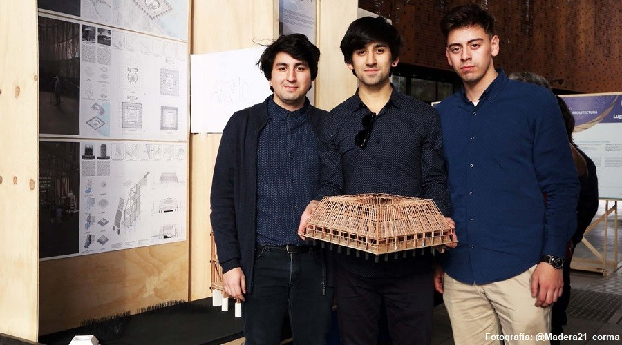 Estudiantes USS Concepción lograron primer lugar en Concurso Nacional de Arquitectura Madera21-Corma (2)