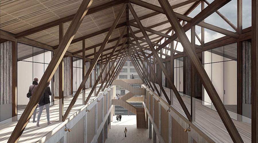 Proyectos de estudiantes destacan en Bienal de Arquitectura en Puerto Montt
