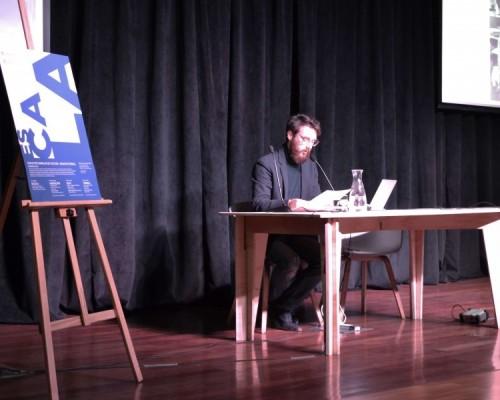 David Caralt, arquitecto y director de carrera en la sede Concepción, inauguró el ciclo de charlas Cultura Arquitectónica.