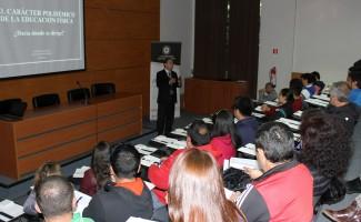 Conferencia de Cristian Luarte, director de Pedagogía en Educación Física USS Concepción.