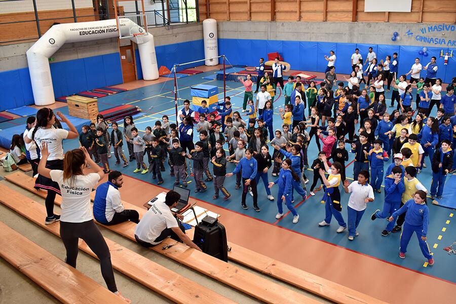 El Festival de Gimnasia Artística fue organizado por la carrera de Pedagogía en Educación Fisica, USS Valdivia.