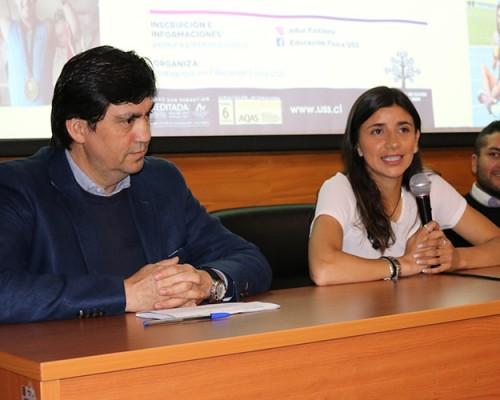 Realizaron conversatorio sobre deporte y alto rendimiento en sede Concepción