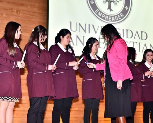 Estudiantes de la Facultad de Educación realizaron ceremonia de investidura.