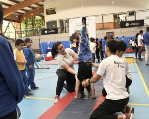 El evento deportivo se hizo en el marco de la asignatura de tercer año de Gimnasia Artística