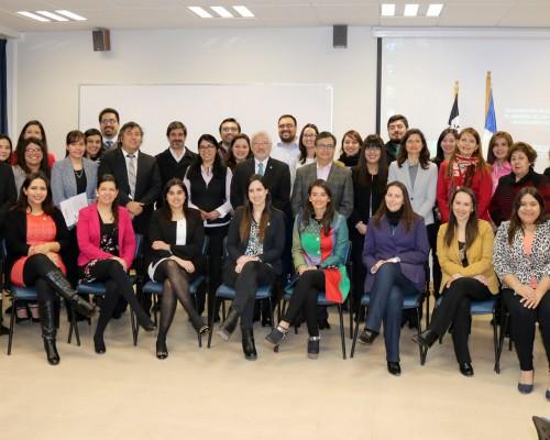 Académicos de la Facultad de Ciencias de la Salud, protagonistas de la ceremonia.