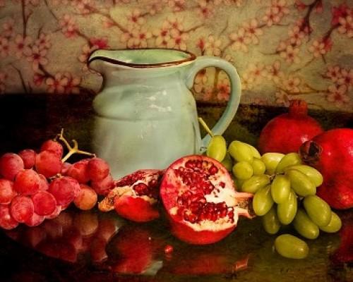 frutas y agua